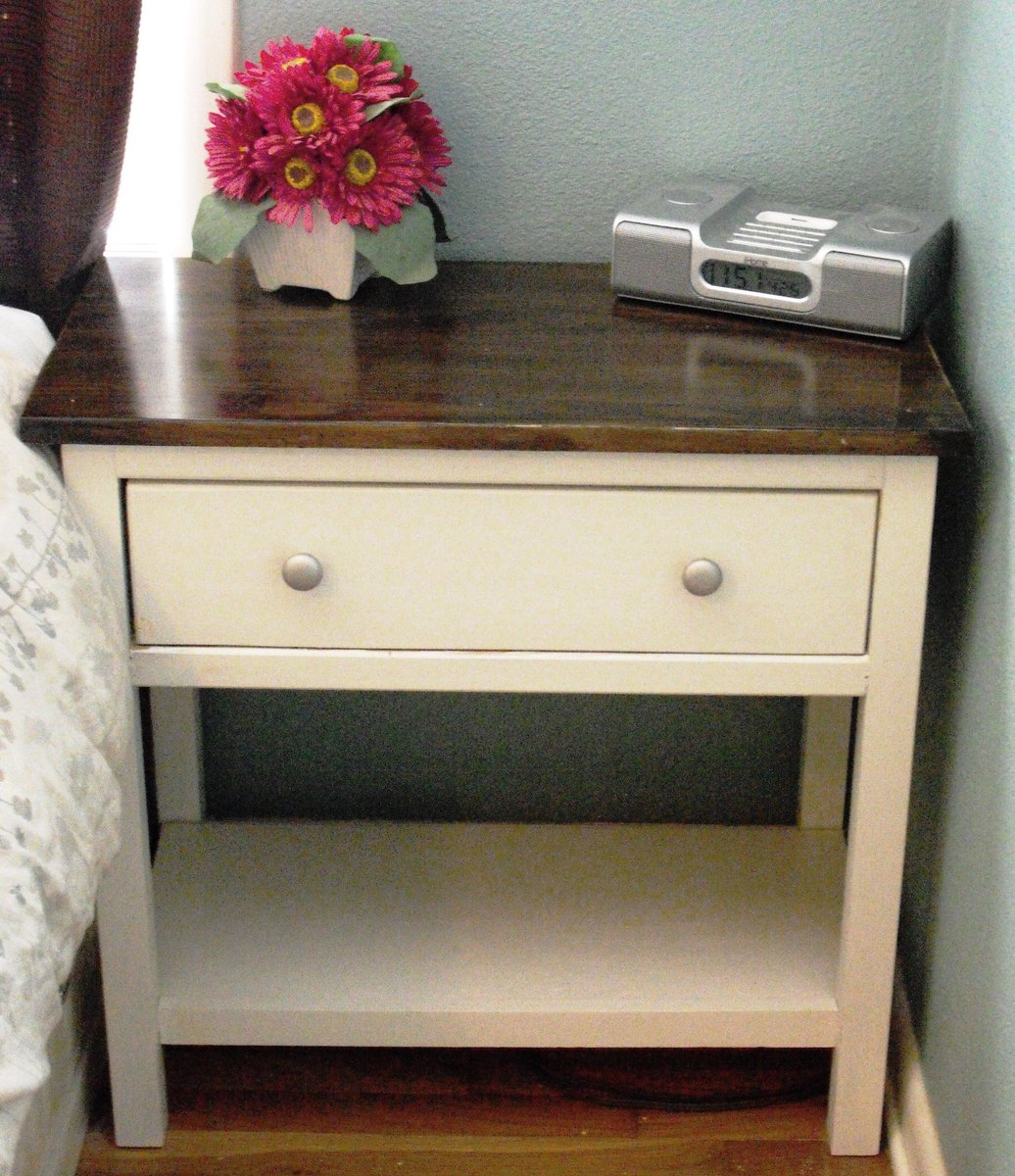 ana white | farmhouse bedside table - diy projects How to Build a Bedside Table with Drawers