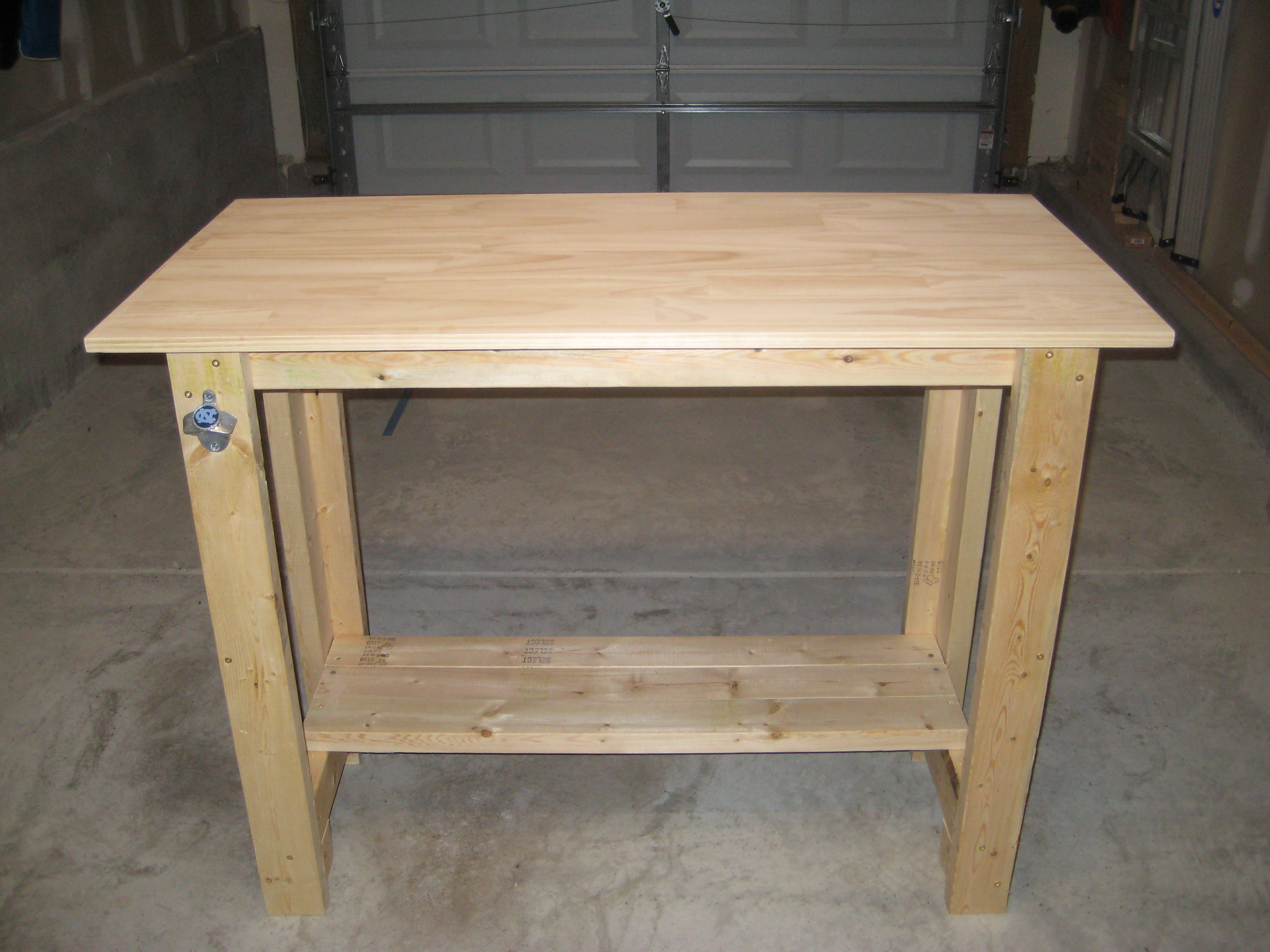 Ana White | Sturdy Work Bench - First project completed! - DIY ...
