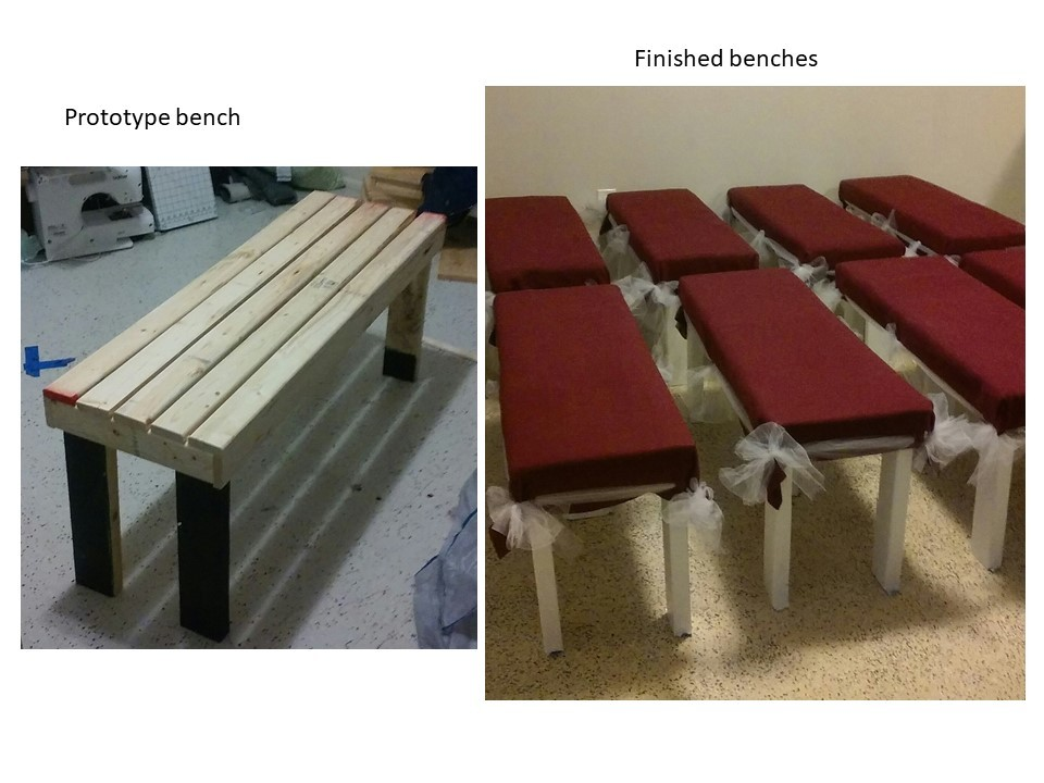 Ana White 4x4 Truss Beam Table Concrete Top With Benches Diy Projects
