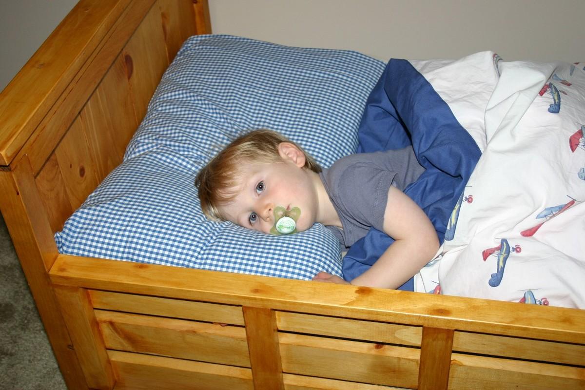 William's toddler farmhouse bed | Ana White