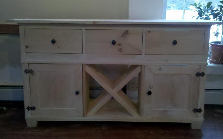 Diy plans for buffet cabinet free