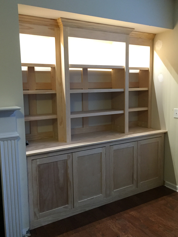 Ana White Built In Bookcase With Lights Diy Projects
