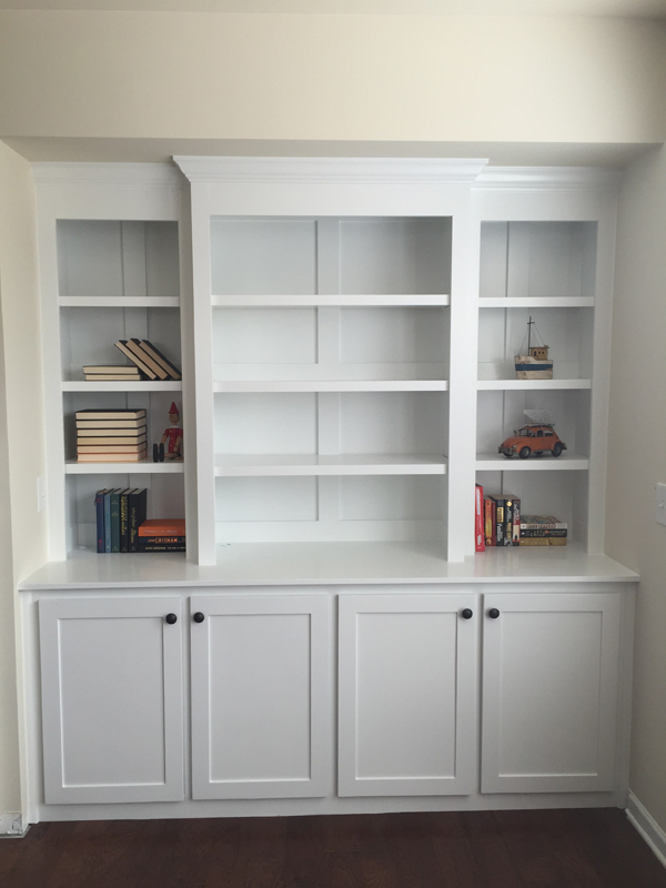 Ana White | Built in bookcase with lights - DIY Projects