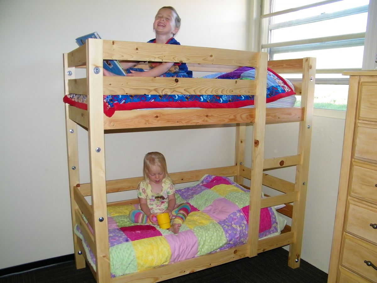 ana white toddler bunk beds diy projects - Bunk Beds For Kids Plans