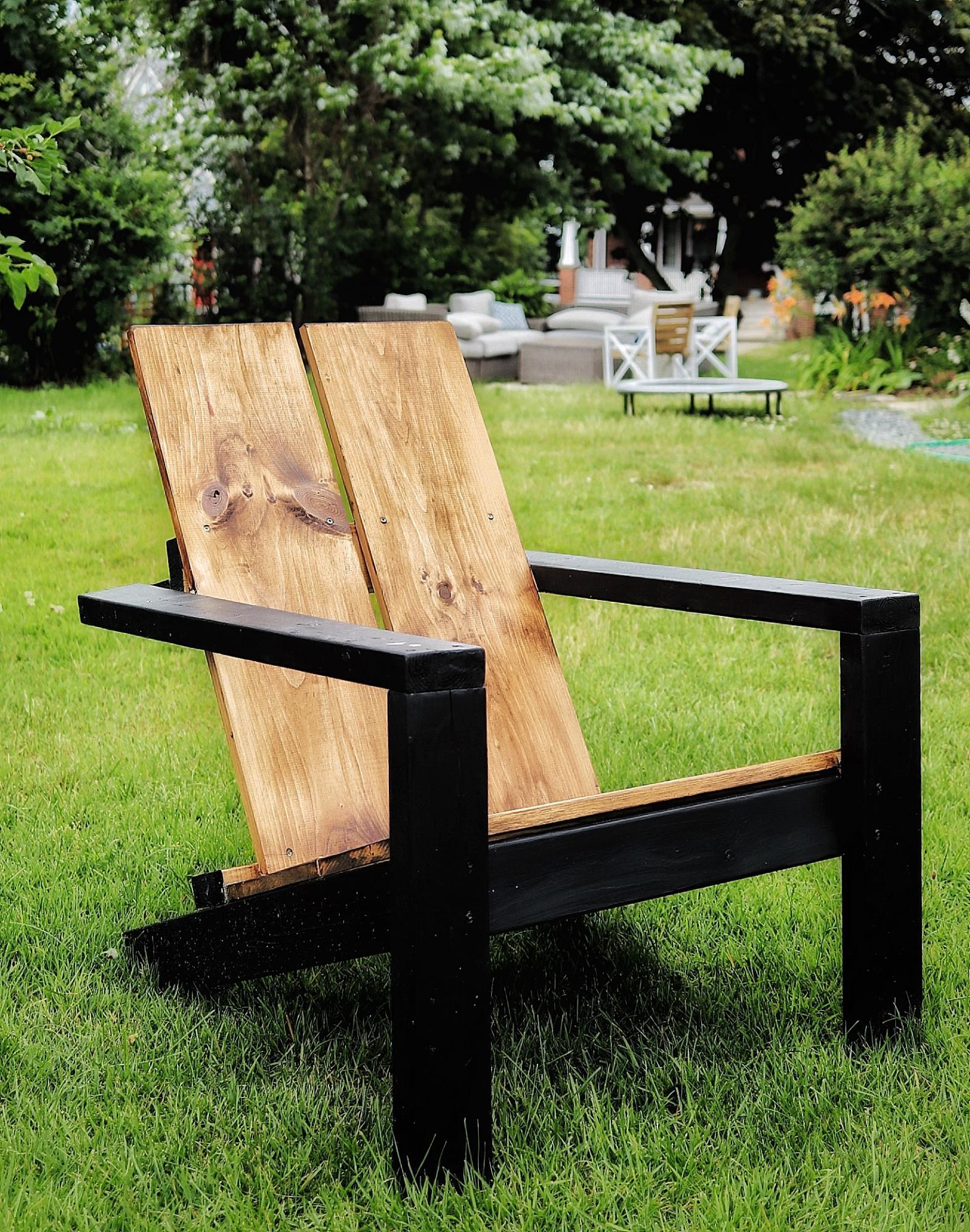 2x4 Modern Adirondack Chair Modified Ana White