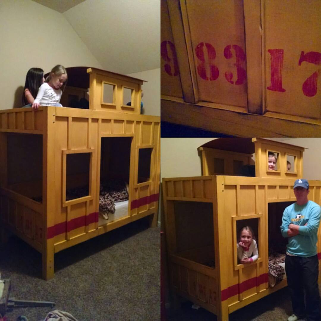 Ana White The Caboose Bunk Bed Diy Projects