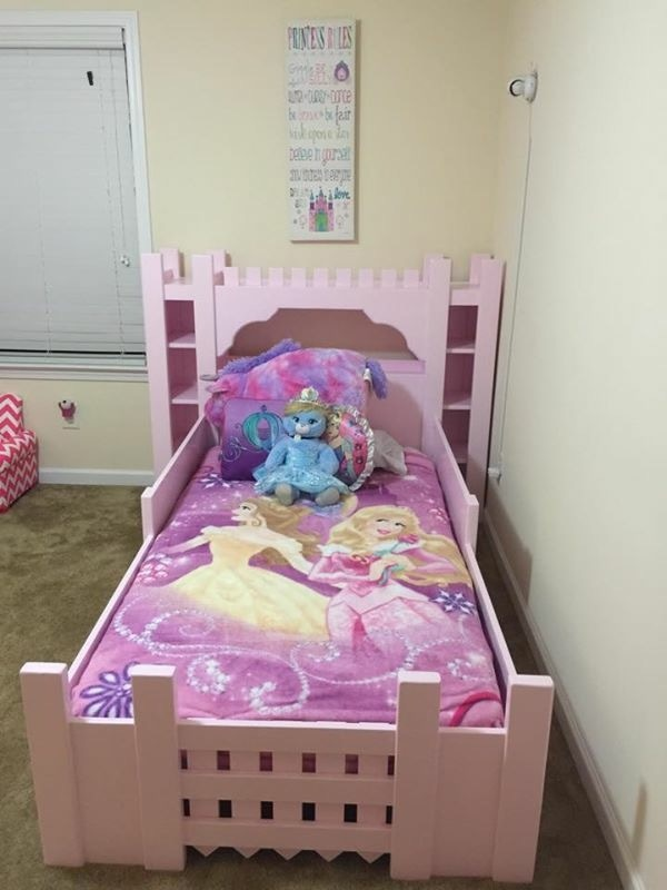 Ana white castle bed twin size diy projects for Princess bed blueprints