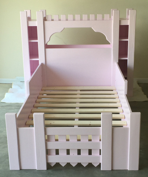 Ana white castle bed twin size diy projects for How to build a castle bed