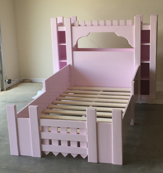 Ana white castle bed twin size diy projects for Castle bed plans
