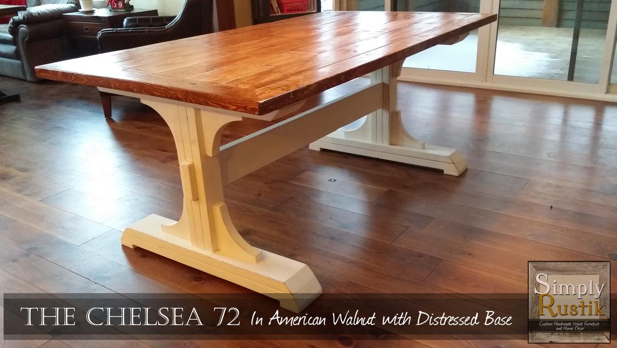Double Pedestal Farmhouse Dining Table