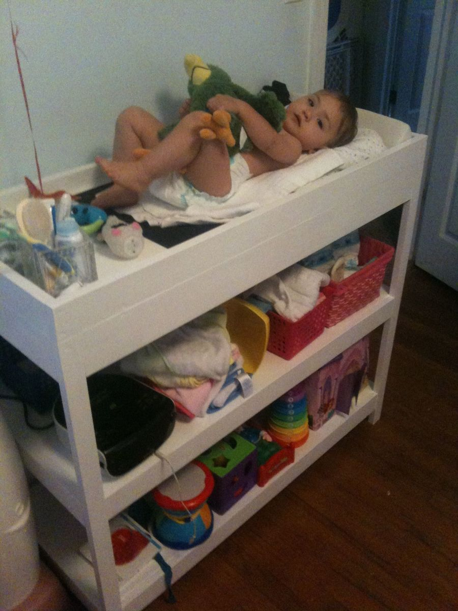 ana white changing table for my baby first project diy projects. Black Bedroom Furniture Sets. Home Design Ideas