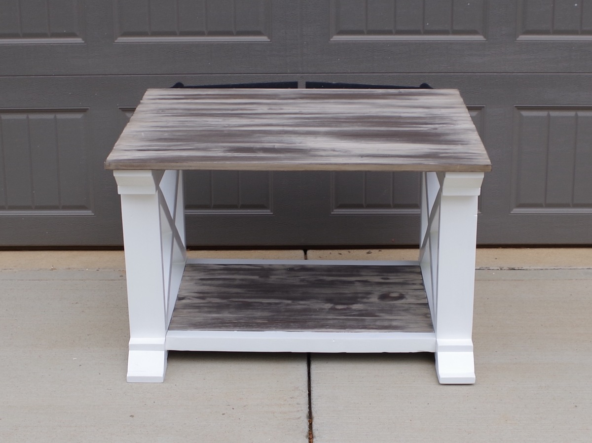ana white inspired by home coffee table with rustic top u0026 pure