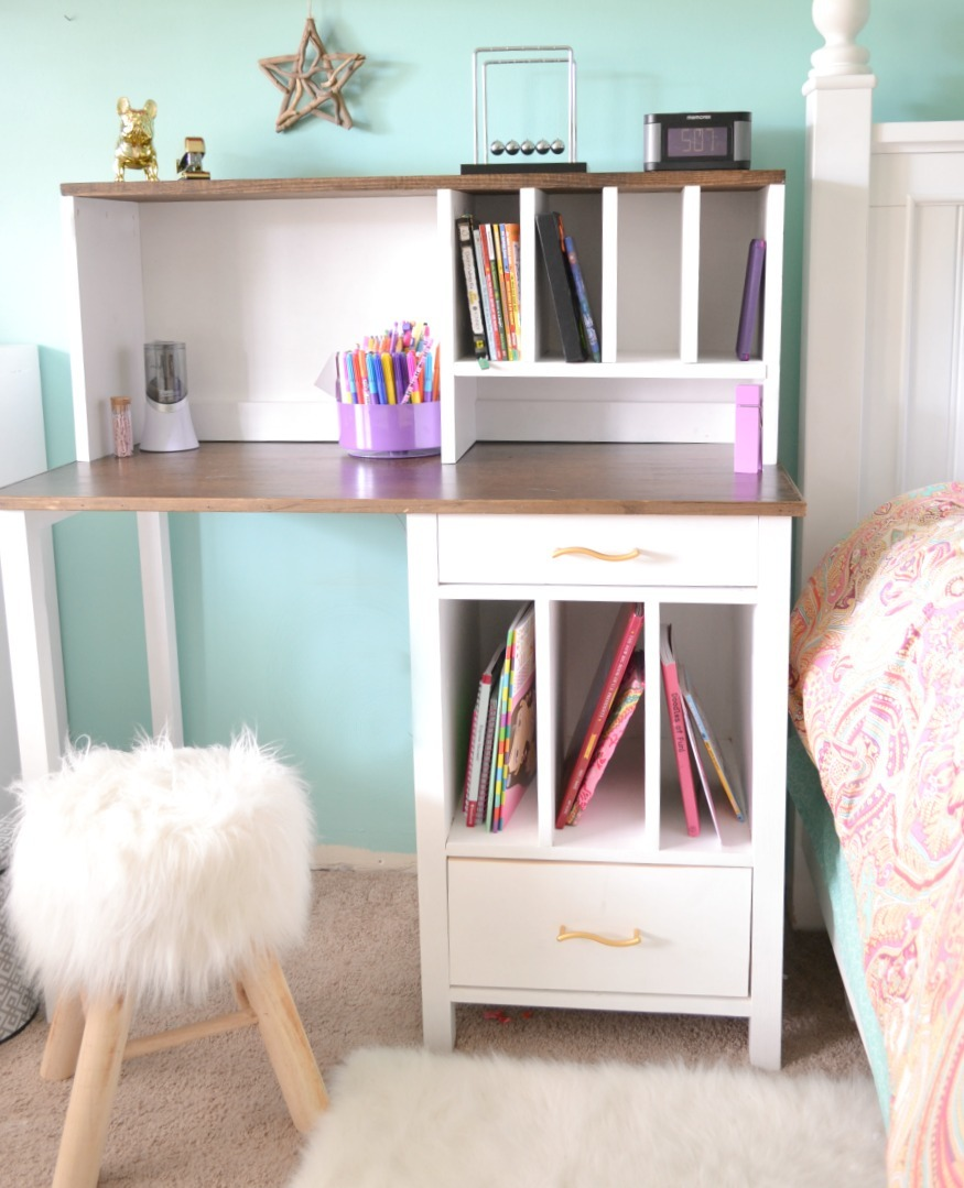 Ana White Desk Hutch For File Cubby Base With Drawers Diy Projects