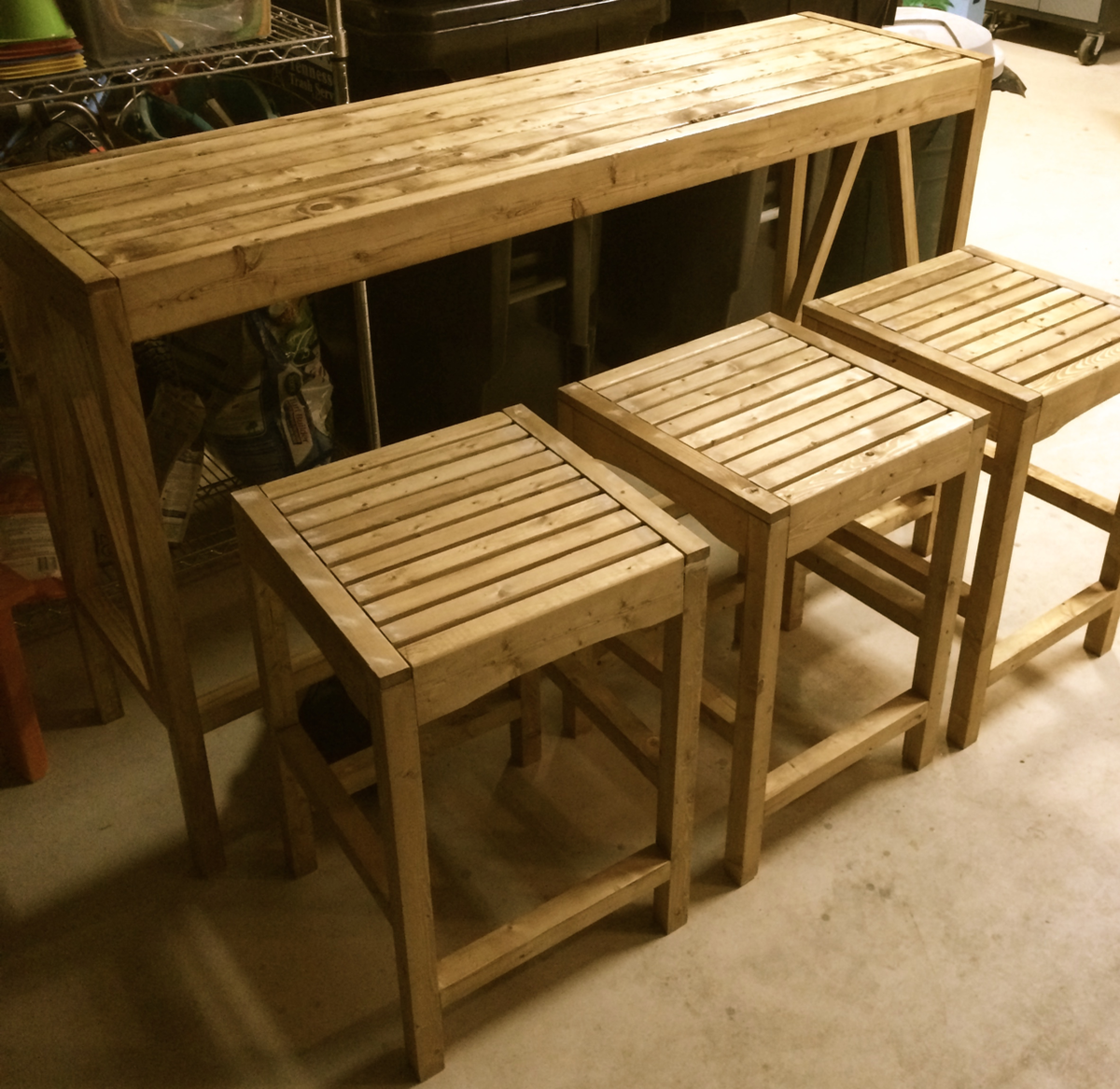 Bar Custom Wood And Woods: Sutton Custom Outdoor Bar Stools - DIY Projects