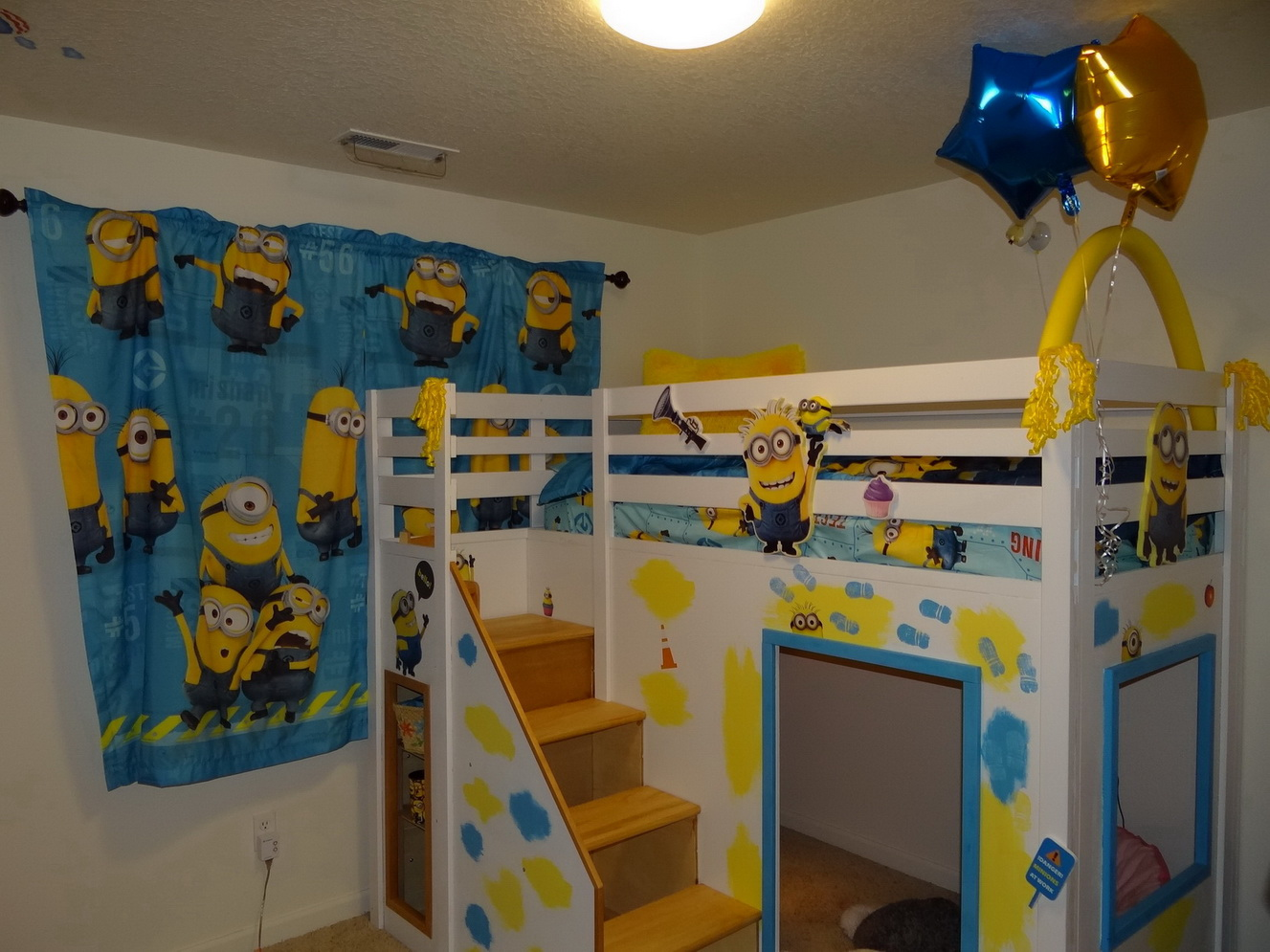 Ana White Despicable Me Minion Theme Playhouse Loft Bed