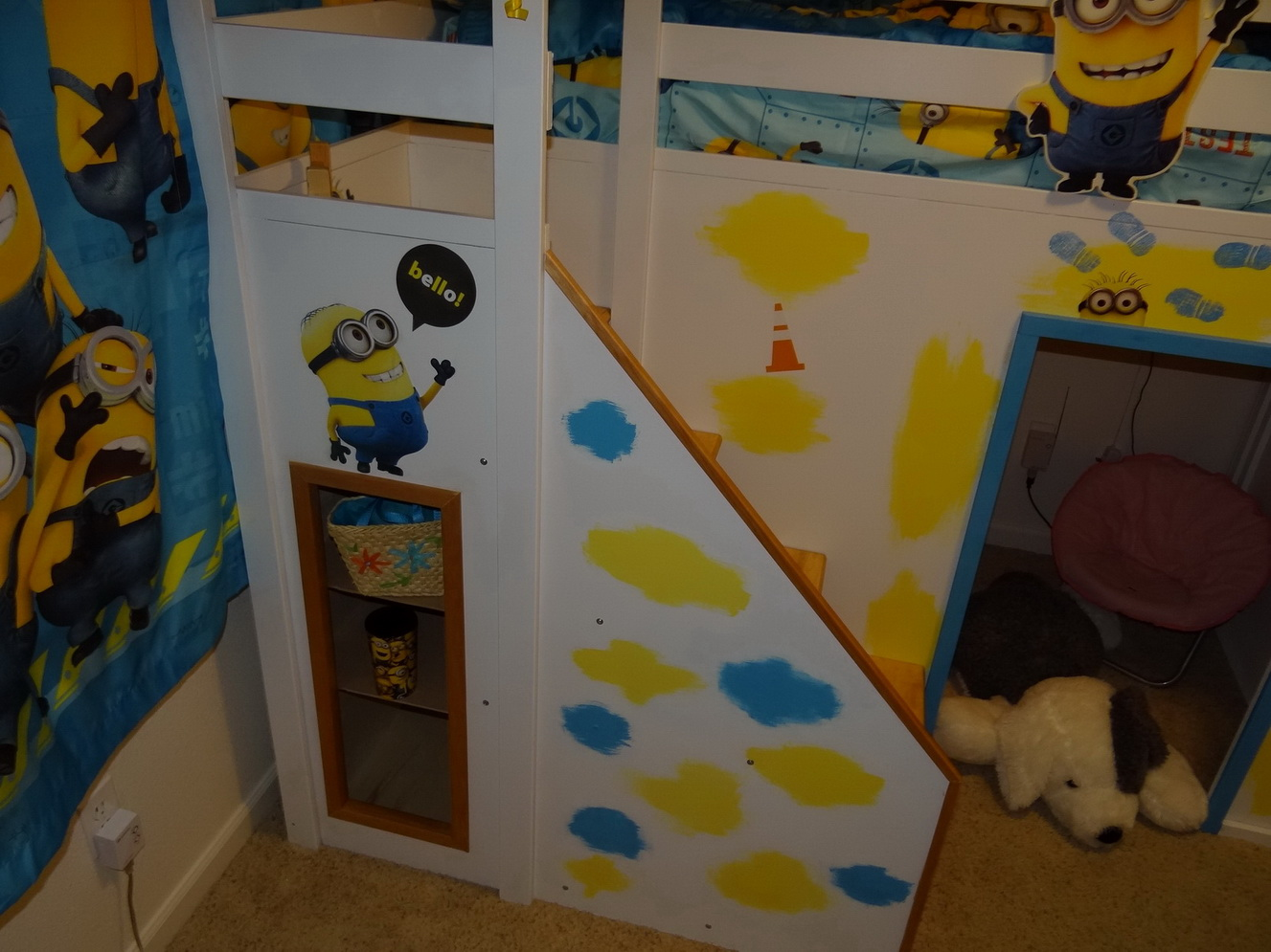 Despicable Me Minion Theme Playhouse Loft Bed Ana White