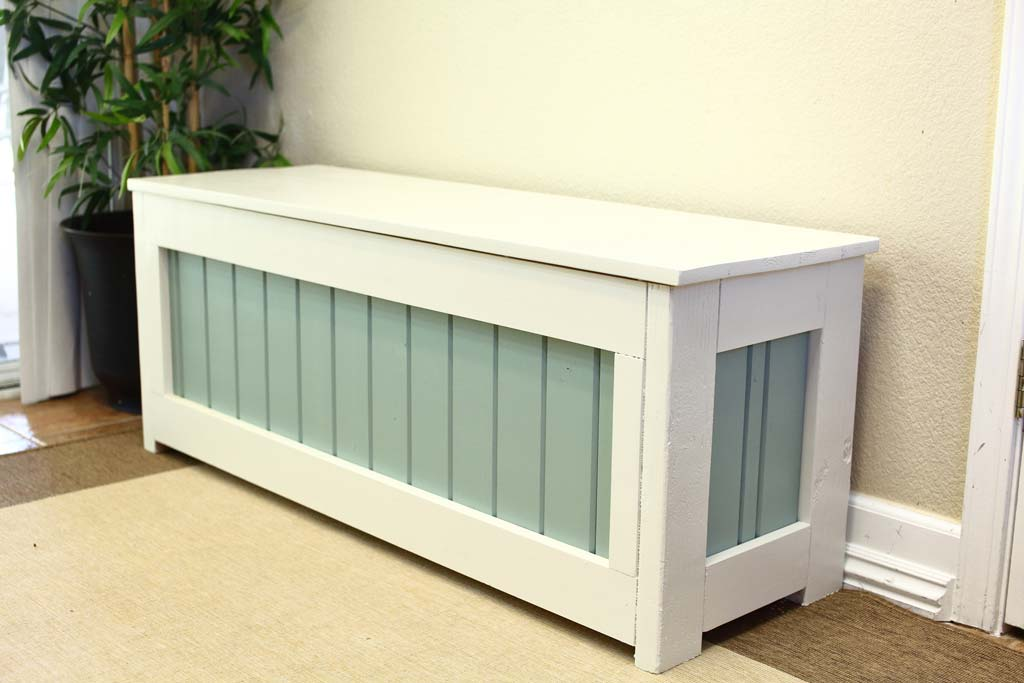 Corner Storage Bench Ana White