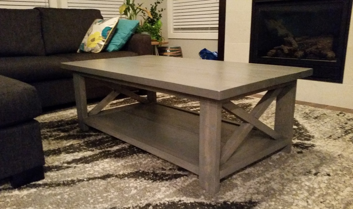 Ana White Coffee Table With X Diy Projects
