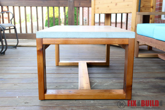 Ana White Concrete Top Coffee Table Diy Projects