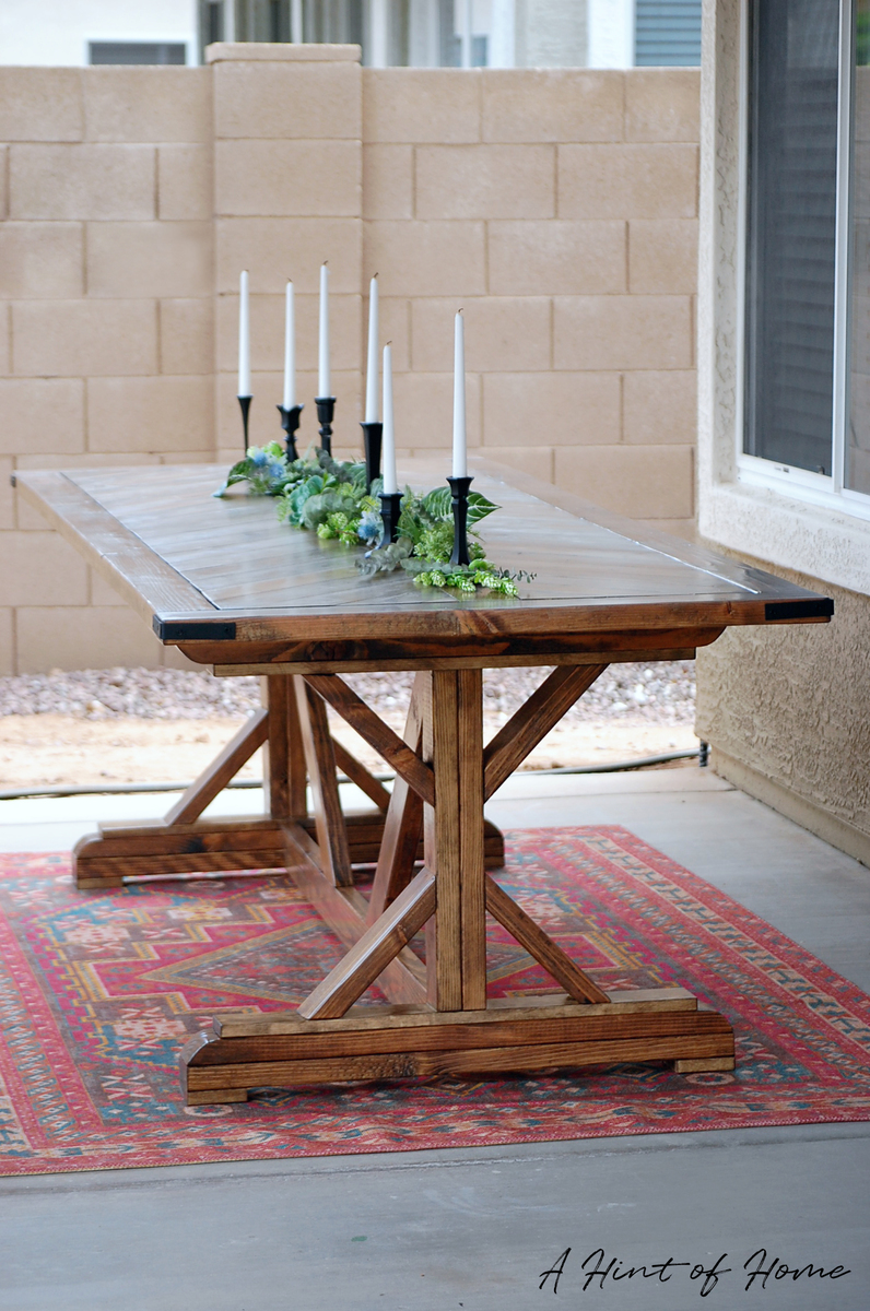 ana white diy outdoor dining table diy projects. Black Bedroom Furniture Sets. Home Design Ideas