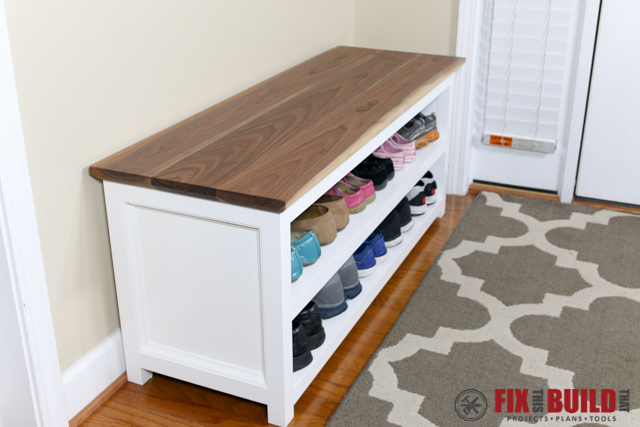 Diy Shoe Bench. Diy Entryway Bench