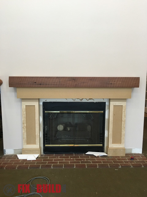 DIY Fireplace Surround and Mantel. Fireplace and Mantel in Progress - Ana White Fireplace Surround And Mantel - DIY Projects