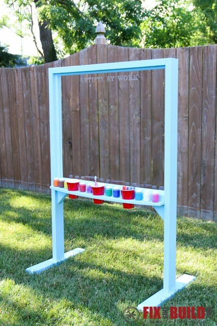 Ana white outdoor acrylic easel diy projects kids art center station solutioingenieria Gallery