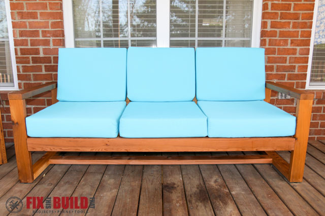Ana white modern outdoor sofa diy projects for Outdoor sofa plans