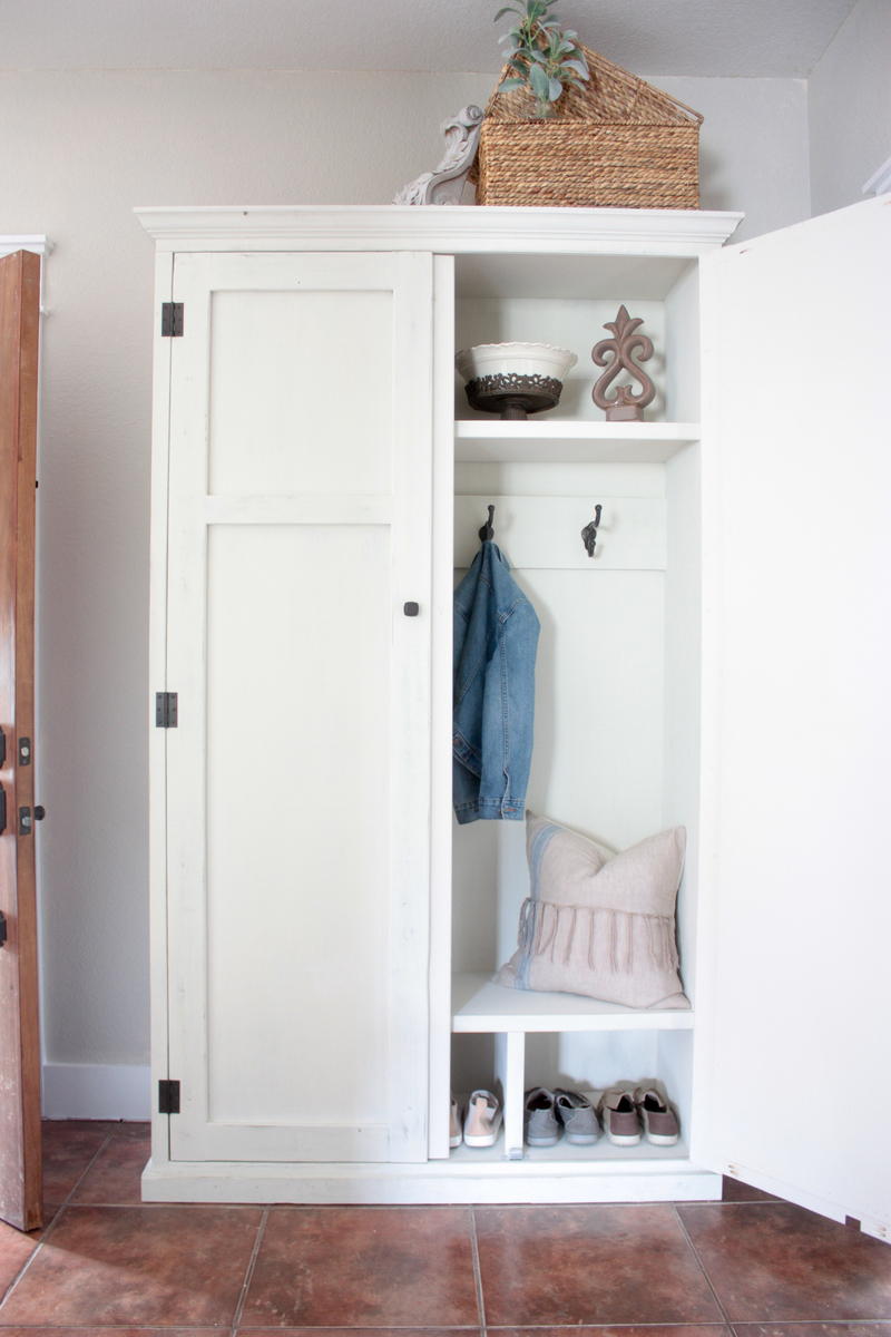 Ana White Mudroom In An Armoire Diy Projects