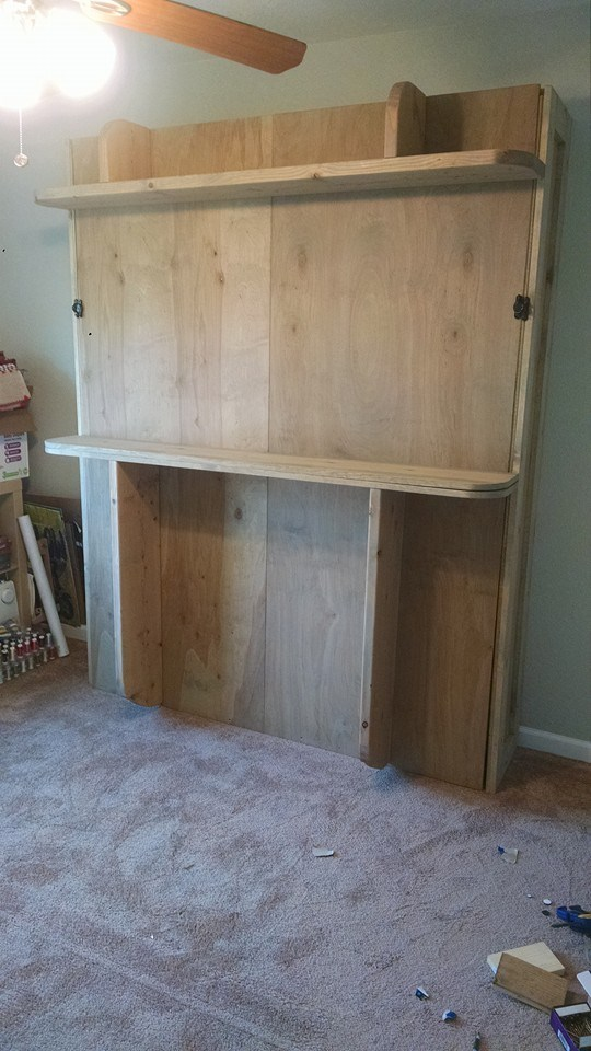 Ana White Diy Murphy Wall Bed Diy Projects