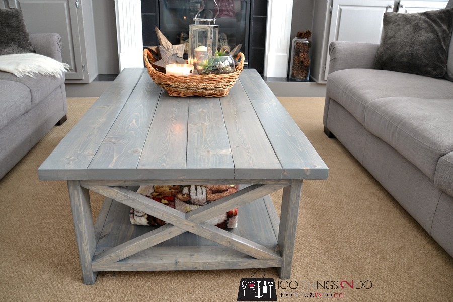 Bigger Rustic X Coffee Table Ana White