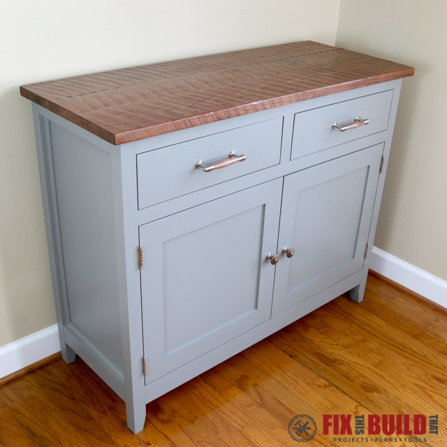 Ana white sideboard cabinet diy projects Diy white cabinets