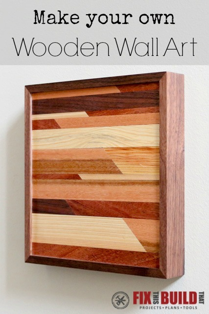 Make wall art from scraps