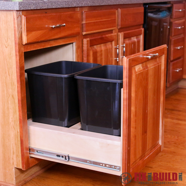 ana white pull out trash can kitchen cabinet upgrade diy projects. Black Bedroom Furniture Sets. Home Design Ideas