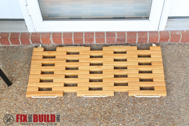Excellent Ana White | Wooden Doormat - DIY Projects WH91