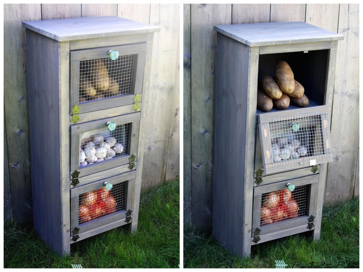 Vegetable Bin Cupboard Ana White