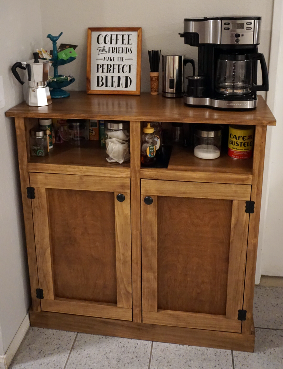Ana white coffee bar diy projects for Kitchen coffee bar cabinets