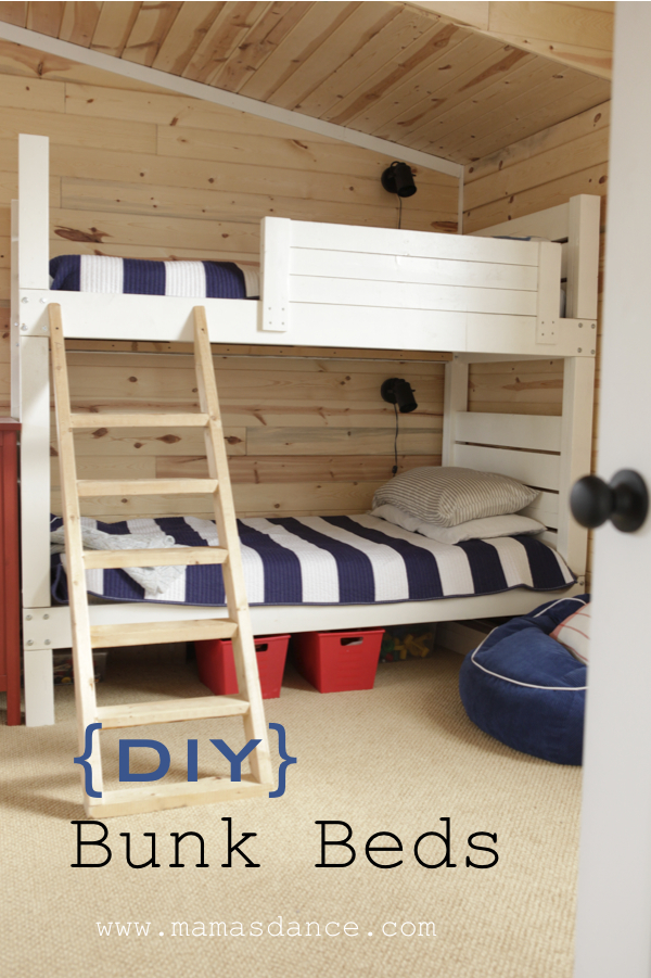 ana white bunk beds land of nod inspired diy projects - Bunk Beds For Kids Plans