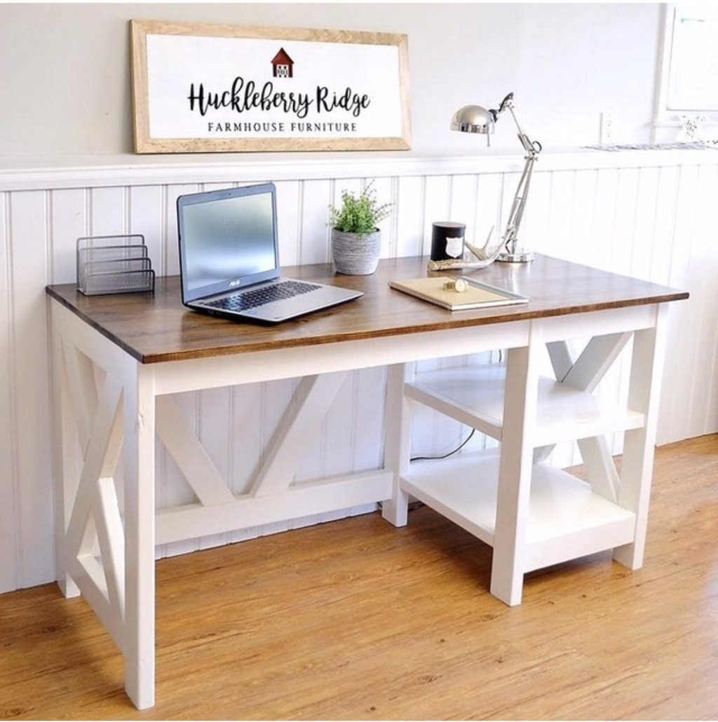 Farmhouse X Desk For The Home Office