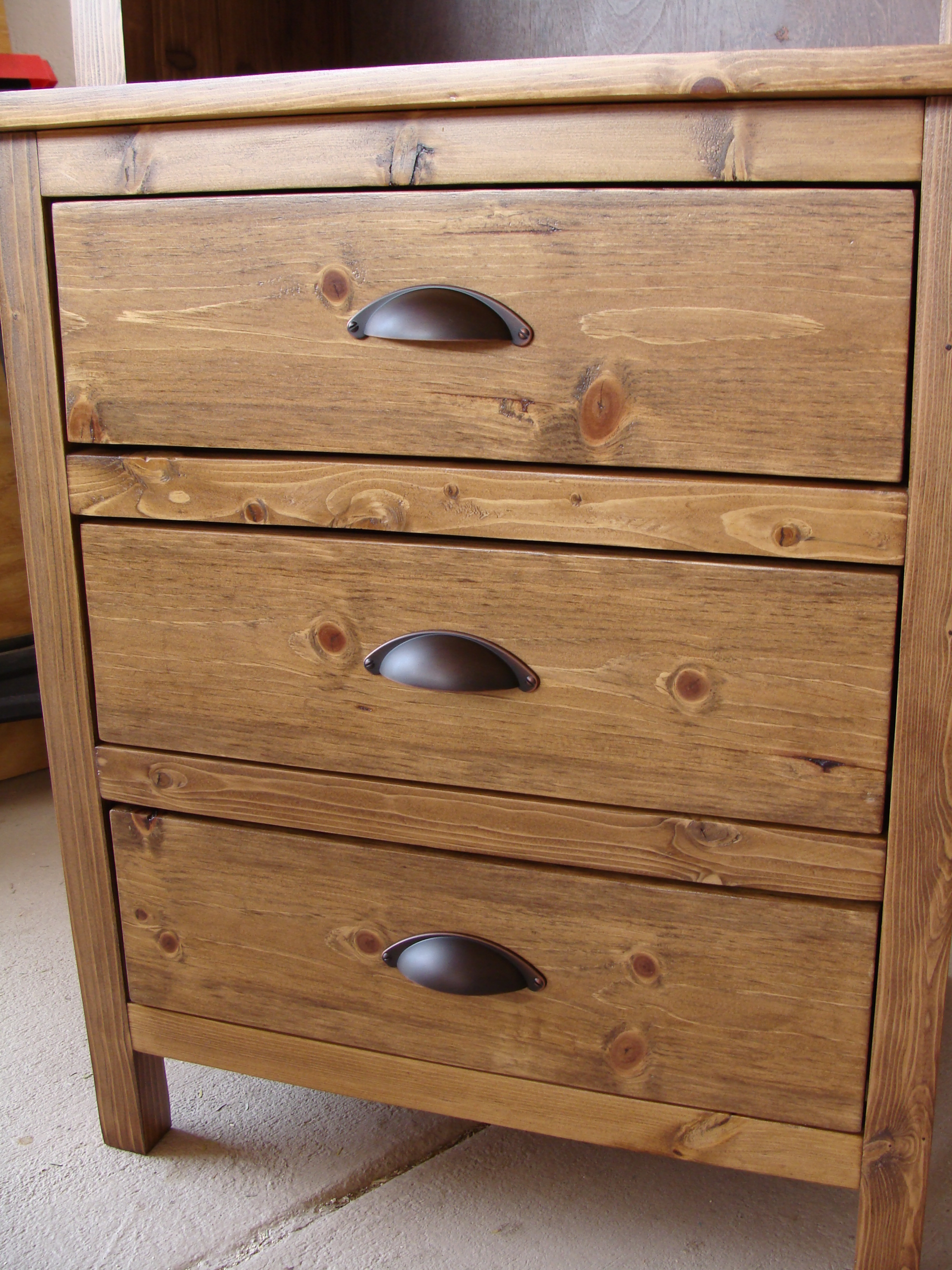 Ana White Modified Reclaimed Wood Look Bedside Table Now