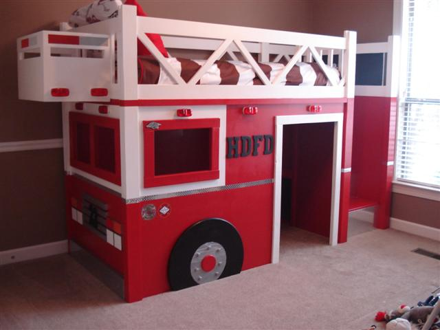 Ana White Fire Truck Bed