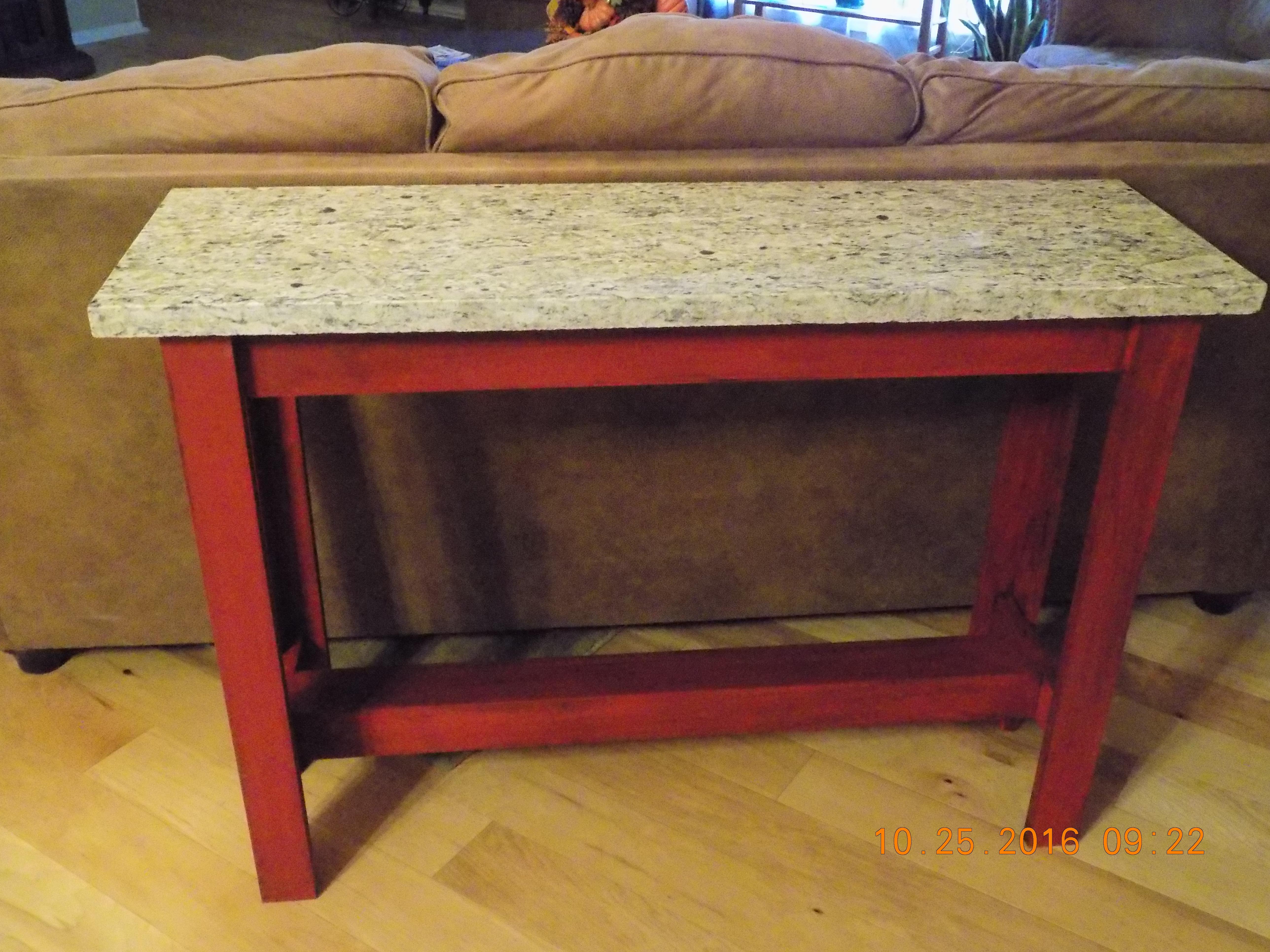Sofa Table with Granite Top | Ana White