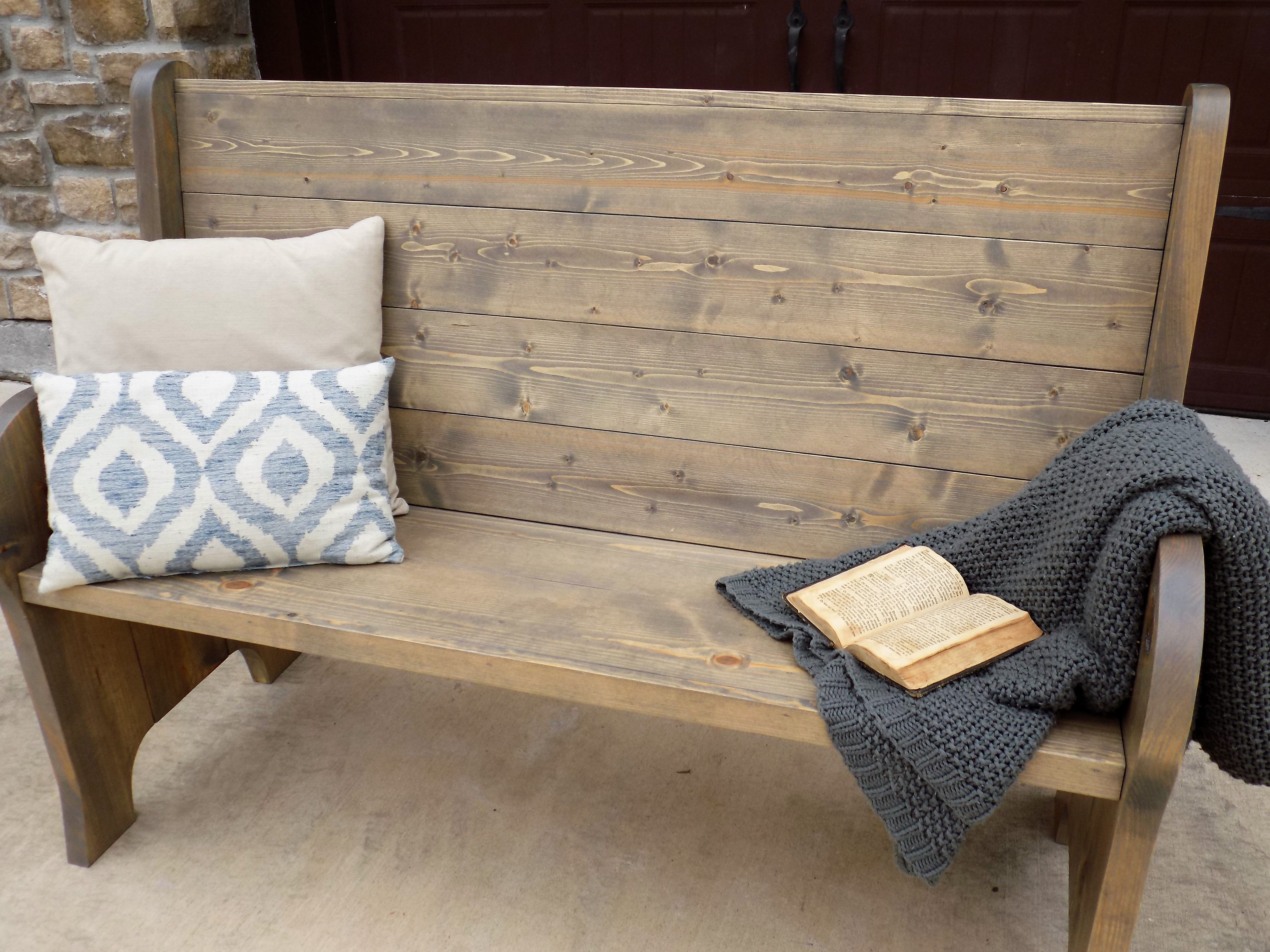 Ana white church pew style entry bench diy projects additional photos solutioingenieria Images