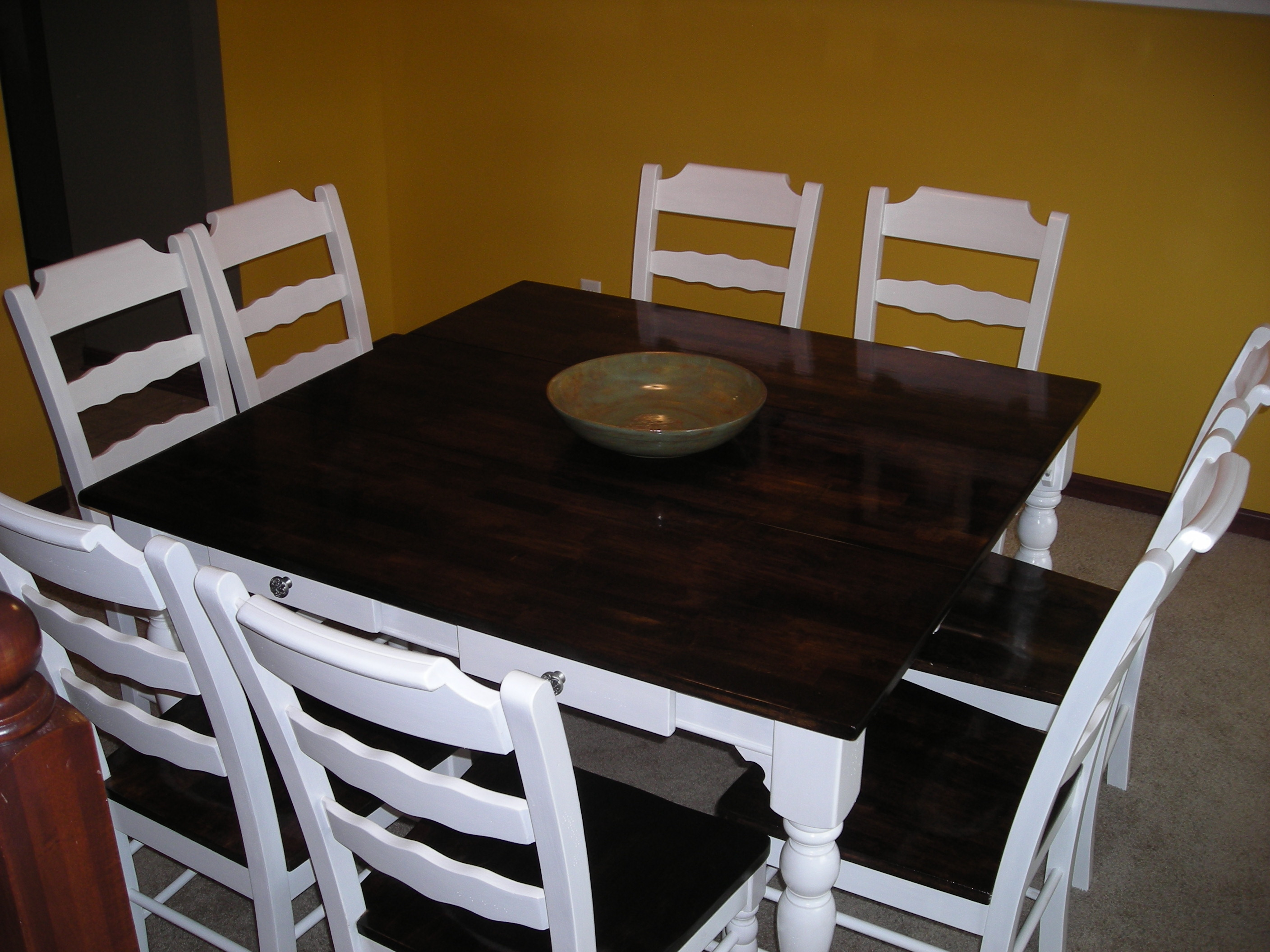 refinished dining room set refinishing kitchen table
