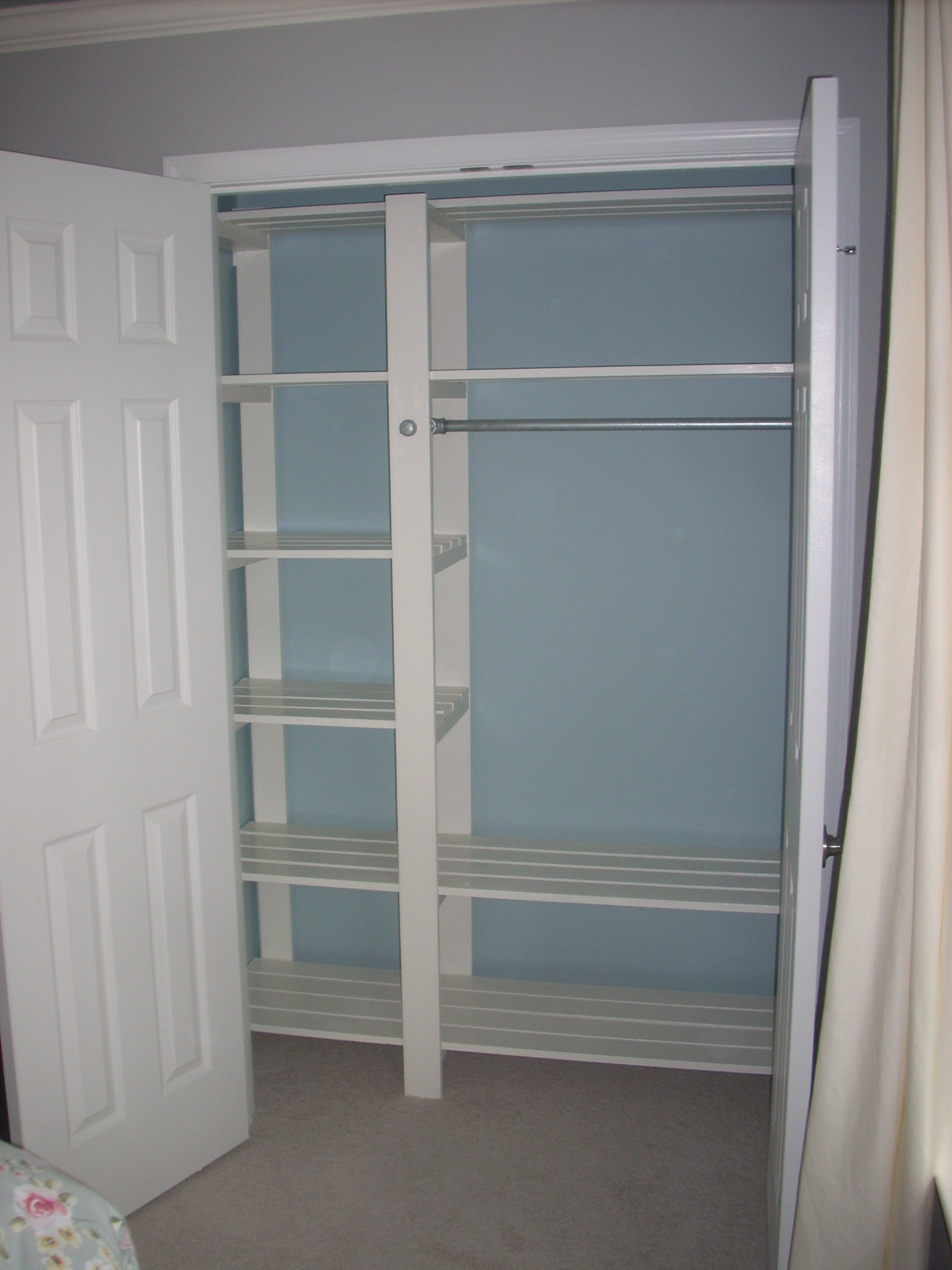 Ana white guest bedroom closet diy projects - Closet for small room ...