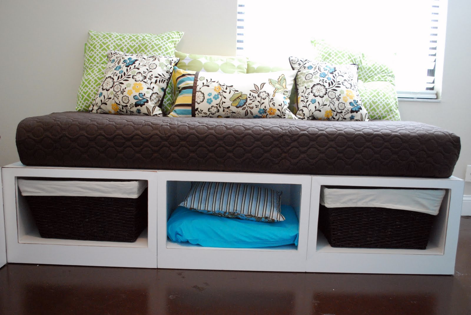 Ana white stratton daybeds times two diy projects Daybeds with storage