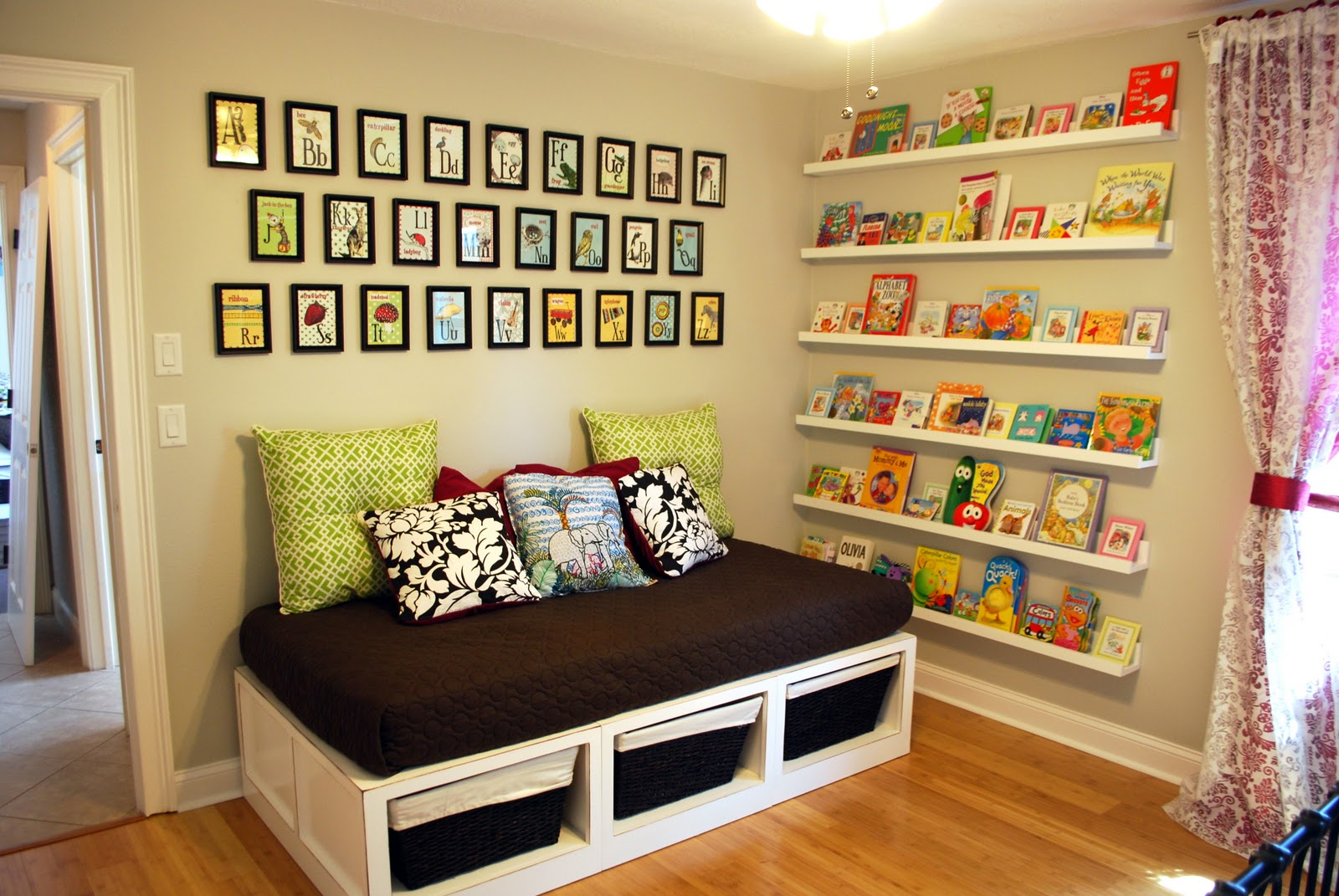 Nursery Room Book Shelves From 10 Ledge Plan