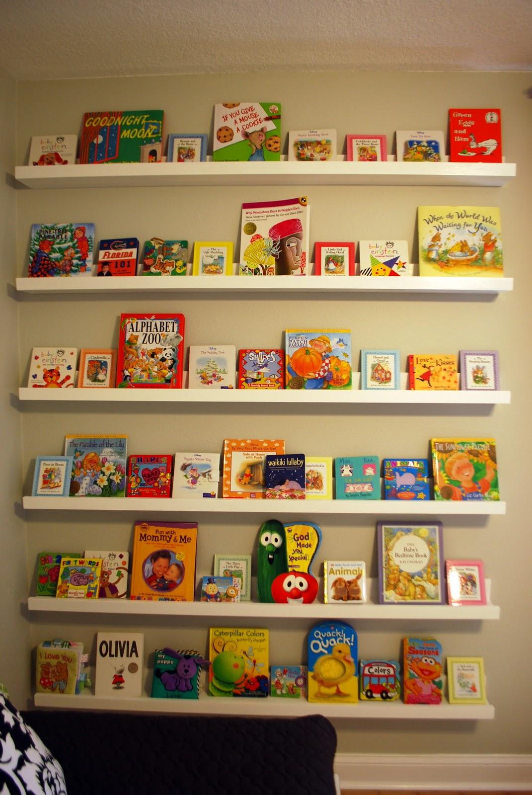 Nursery Room Book Shelves From 10 Ledge Plan Ana White