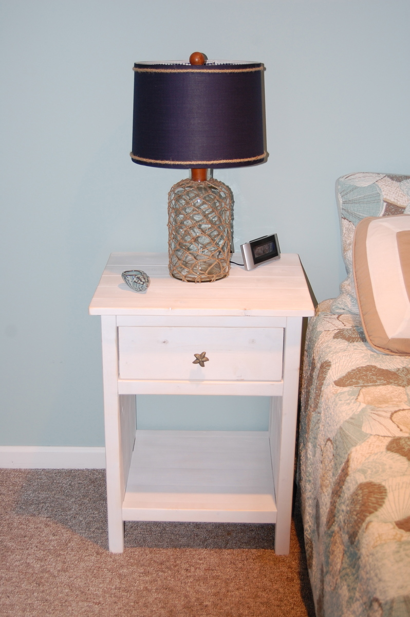 Ana White Reclaimed Wood Look Bedside Table Modified