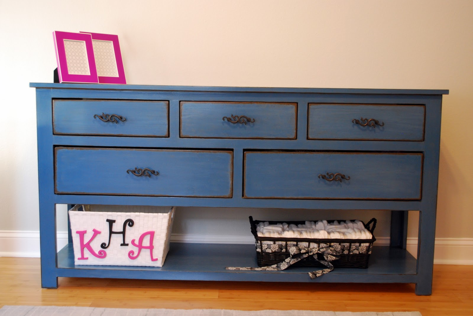 Ana White | Dresser with Open Bottom Shelf for Changing Table ...